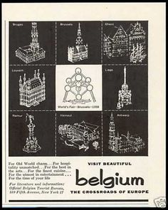 Belgium Travel World's Fair Brussels Antwerp (1958)