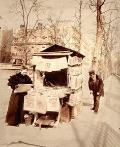 MARCHANDE de JOURNAUX, Jardin du Luxembourg en 1898