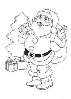 Santa Pictures | Back to Coloring pages santa clause category