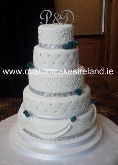 5 Tier Golf Themed Wedding Cake Wedding Cakes