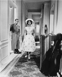 "1957. Audrey Hepburn en el film ""Arianna"""