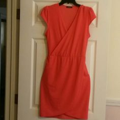 Coral dress. Very cute! Only worn once. Brand: Bloom Dresses