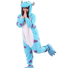 Sullivan Unisex Adult Casual Flannel Hooded Pajamas Cosplay Cartoon Animal Onesies Sleepwear For Men Women -- Learn more by visiting the image link.