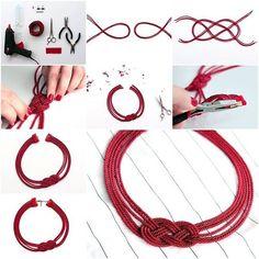 make beautiful Cord Necklaces #diy
