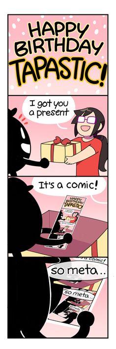 4-Panel Life :: TAPPY BIRTHDAY   Tapastic Comics - image 1