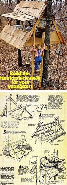 More ideas below: Amazing Tiny treehouse kids Architecture Modern Luxury treehouse interior cozy Backyard Small treehouse masters Plans Photography How To Build A Old rustic treehouse Ladder diy Treeless treehouse design architecture To Live In Bar Cabin Treehouse Masters, Treehouse Kids, Backyard Treehouse, Treehouses For Kids, Outdoor Projects, Wood Projects, Furniture Projects, Teds Woodworking, Woodworking Projects