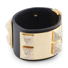 Love this Pave Studded Leather Cuff for $98 on C. Wonder
