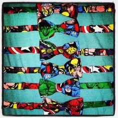 Adjustable Marvel Thor, Hulk, Ironman, Wolverine, Captain America, Spiderman Comic Superhero Bow by SheIsSewVegan, $15.00