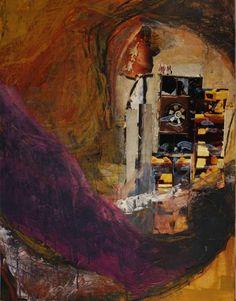 Sand im Getriebe, 2006, Collage auf Hartfaserplatte, 70x90cm