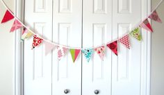 """I recently saw fabric bunting used in a little girls room in a British home decor magazine... so cute!  Should I get this for my little girl's """"It's a Hoot"""" big girl room??"""