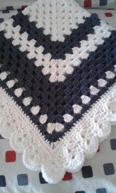 Crochet bebé manta Grandma de Square listo para enviar la