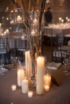 Winter wedding with diy details winter wedding centerpieces goes great w my branch centerpiece idea solutioingenieria Gallery