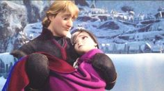 Kristoff and Anna can you say: cutest thing in the world?!