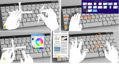 Prototype Microsoft keyboard recognizes hand gestures By Ben Coxworth April 28, 2014 Some of the gestures recognized by the keyboard