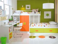 Customisable Staggered Bunk Beds with Wardrobe, Drawers & Desk