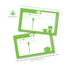 FREE printable Shake, Drink, or Food Recipe Cards Exclusively from Herbalife Mom ~ Herbalife Mom