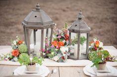 lantern centerpieces (Christa Elyce Photography) #weddings