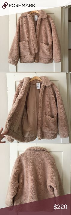 H&M Short Pile Coat Sold out H&M short pile teddy bear coat. Super comfy and perfect for chilly days! H&M Jackets & Coats