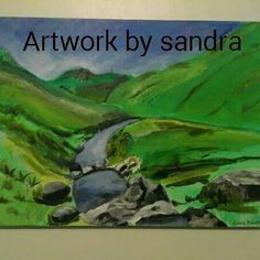 Esk valley painted in acrylics on canvas including postage Art Paintings For Sale, A3, Acrylics, Canvas, Artwork, Tela, Work Of Art, Auguste Rodin Artwork, Acrylic Nails