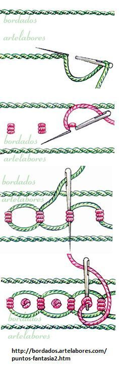 Woven chain looking stitch - Embroidery stiching tutorial - Embroidery Stitches Tutorial, Crewel Embroidery, Embroidery Techniques, Embroidery Applique, Beaded Embroidery, Cross Stitch Embroidery, Embroidery Patterns, Sewing Patterns, Needlepoint Stitches