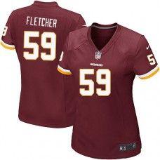 Elite Womens Nike Washington Redskins http://#59 London Fletcher Team Color NFL Jersey$109.99