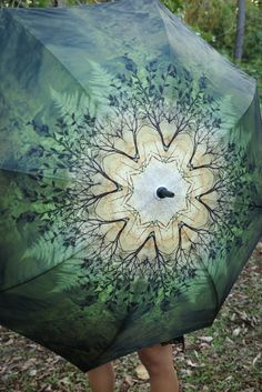 This amazing large umbrella is high quality strong and durable and features a beautiful Crystalotus art print SPRING featuring earthy