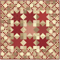 Quilts using Midwinter Reds fabric by Minick & Simpson