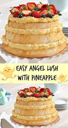 An airy, fruity cloud of Angel Lush with Pineapple. Start with store-bought angel food cake and Angel Lush with Pineapple is ready fast. Print Easy Angel Lush With Pineapple Ingredients 1 can DOLE Crushed Pineapple in Juice 20 oz., undrained 1 pkg. JELL-O Vanilla Flavor Instant Pudding 3.4 oz. 1 cup thawed COOL WHIP Whipped …