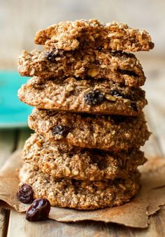 Oil-Free Oatmeal Raisin Cookies (Vegan + GF)