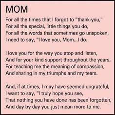 thank you mom quotes from daughter - Google Search - #daughter #google #mom #quotes #search #thank Happy Birthday Mom From Daughter, Birthday Message For Mom, Happy Birthday Mom Quotes, Birthday Presents For Dad, Mom Quotes From Daughter, Mother Daughter Quotes, Mother Birthday Gifts, Birthday Messages, Mothers Day Gifts From Daughter