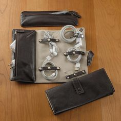 Bomber Jacket Cord Roll: A leather organizer to store your cords and digital accessories.