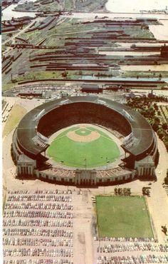 Cleveland Municipal stadium postcard. Hagins collection.