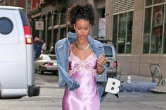 Rihanna Struts her Sexy Stuff in Sheer Pink Satin Slip : RiRi's Pink Eye Candy #CelebrityFashion, #CelebrityStyle, #Fashion, #RiRiInNightgown, #RiRiInPinkSatin, #RiRiPinkEyeCandy