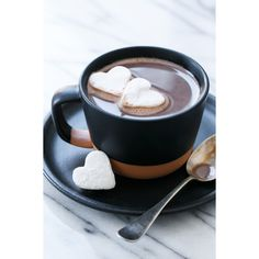Salted Vanilla Hot Chocolate ❤ liked on Polyvore featuring backgrounds