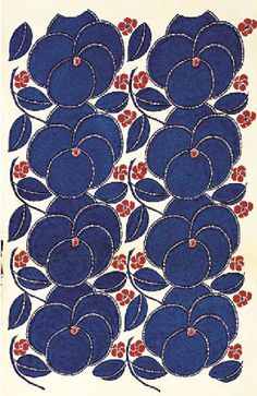Textile Design by Raoul Dufy | several other lovely fabrics designed by Dufy shown on this blog.