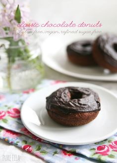 Classic Chocolate Donuts made Gluten-free and Vegan with So Delicious Dairy Free