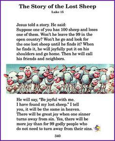 Story of Lost Sheep (Jesus' Parables) - Kids Korner - BibleWise