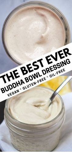 The best ever buddha bowl dressing made with tahini and lemon will bring out all the flavors of your favorite buddha bowl. This dressing is a little sweet, a little tangy, and perfectly balanced. Vegan Sauces, Vegan Foods, Vegan Recipes, Cooking Recipes, Salad Recipes, Vegan Tahini Dressing, Roh Vegan, Vegan Raw, Sauce Barbecue