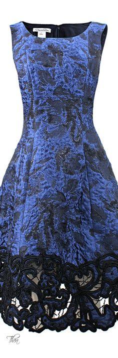 Oscar De La Renta Lame Embroidered Bottom Dress   The House of Beccaria#
