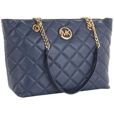 MICHAEL Michael Kors Fulton Quilt Large EW Tote ($328) ❤ liked on Polyvore