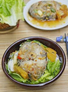 Braised Mackerel Fish with Pineapple and Vermicelli