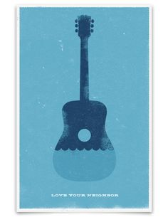 Love Your Neighbor: Nice concert gig poster