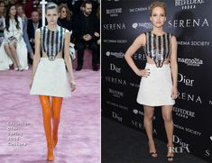 Jennifer Lawrence In Christian Dior Couture & Helmut Lang – 'Serena' New York Screening, After-Party & Press Junket