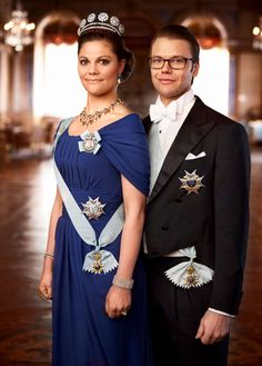 Crown Princess Victoria of Sweden with her husband, Prince Daniel.