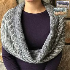 """Mary W Martin has """"un-vented"""" a new range of intriguing techniques for knitting reversible pieces. This one, the Reversible Step One Cowl is what she ... Knitting Kits, Cowl, Crochet, Fashion, Moda, Fashion Styles, Knit Crochet, Crocheting, Fashion Illustrations"""