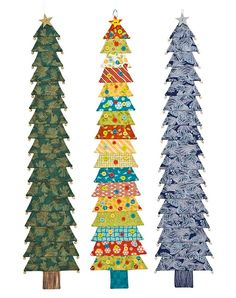 Great Christmas gift. The trees go together in a little over three hours. Fun to make and lot's of other holiday patterns available!