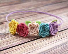 Felt Flower Headband  Mini flower crown