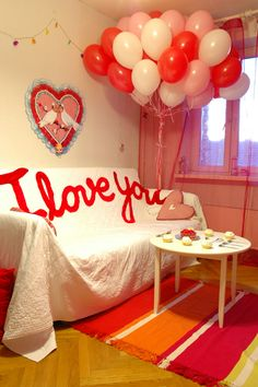 Easy to make rental or personal St Valentines interior design