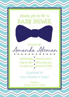 White table style the lifestyle blog bow tie themed baby shower custom printable chevron bow tie baby shower invitation on etsy 1300 filmwisefo Choice Image