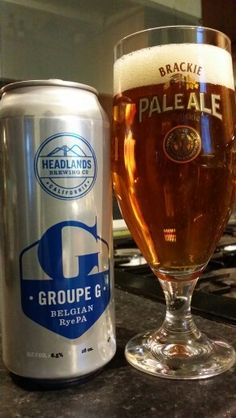 Headlands Brewing Company Groupe G Belgian Rye PA #craftbeer